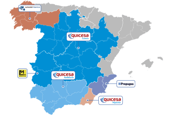 Mapa Distribuidores Quicesa
