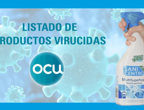 Listado de Productos Virucidas publicado por la OCU